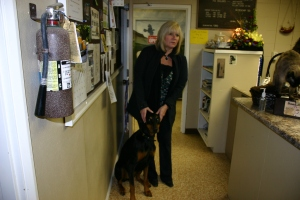 Amy Hanson and Roxie, Lewis County Animal Shelter, Washington State